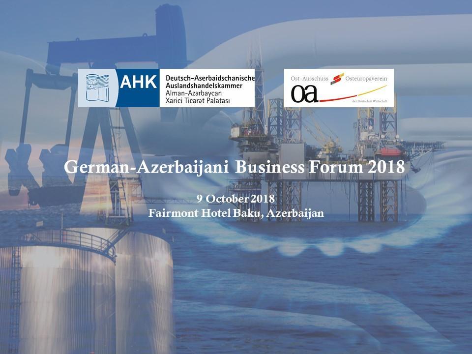 Bakıda Almaniya-Azərbaycan biznes forumu keçiriləcək